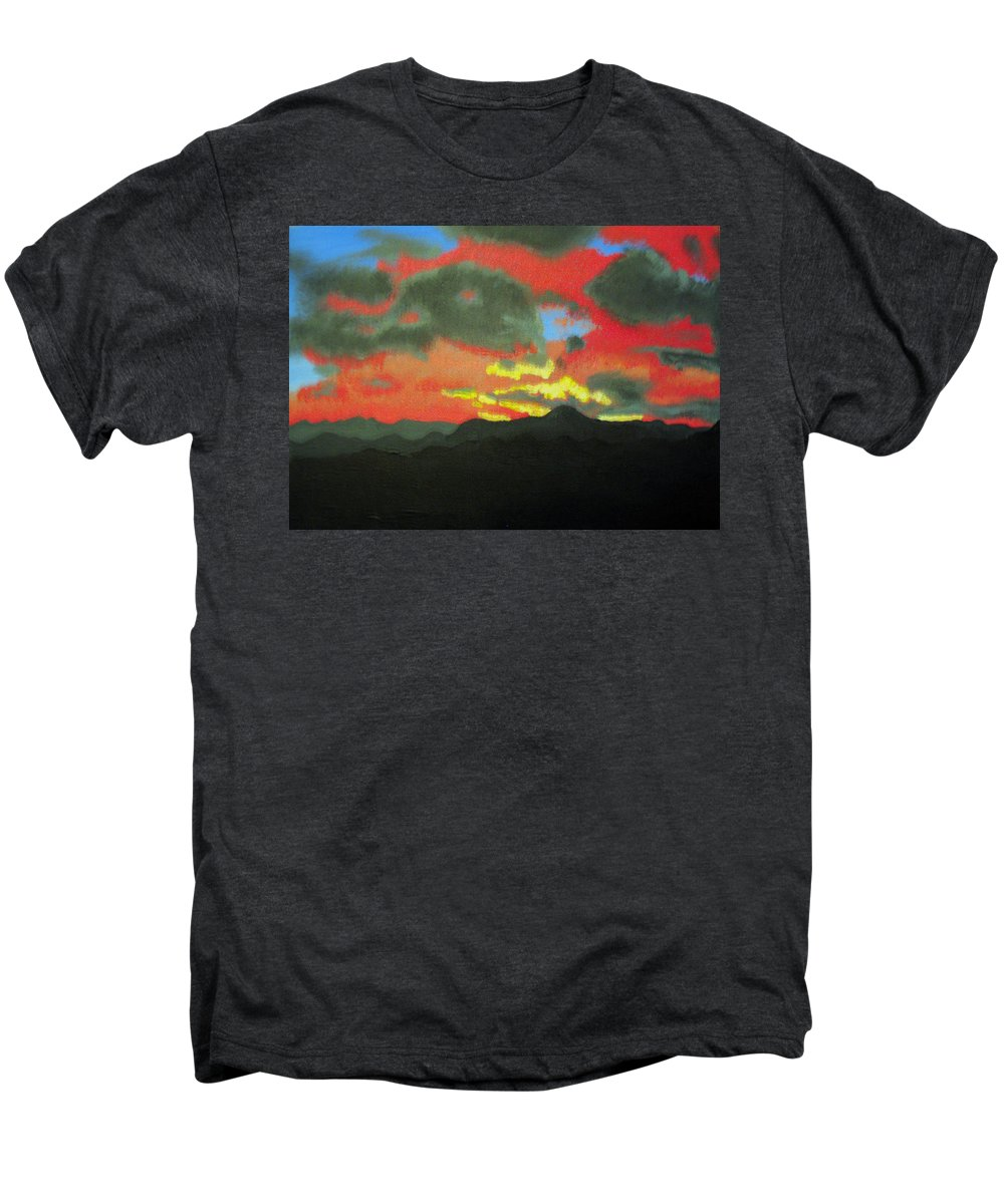 Sunset Men's Premium T-Shirt featuring the painting Buenas Noches by Marco Morales