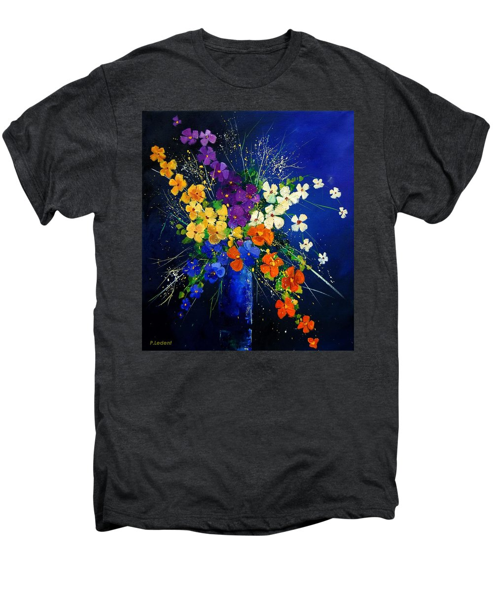 Poppies Men's Premium T-Shirt featuring the print Bunch 0408 by Pol Ledent