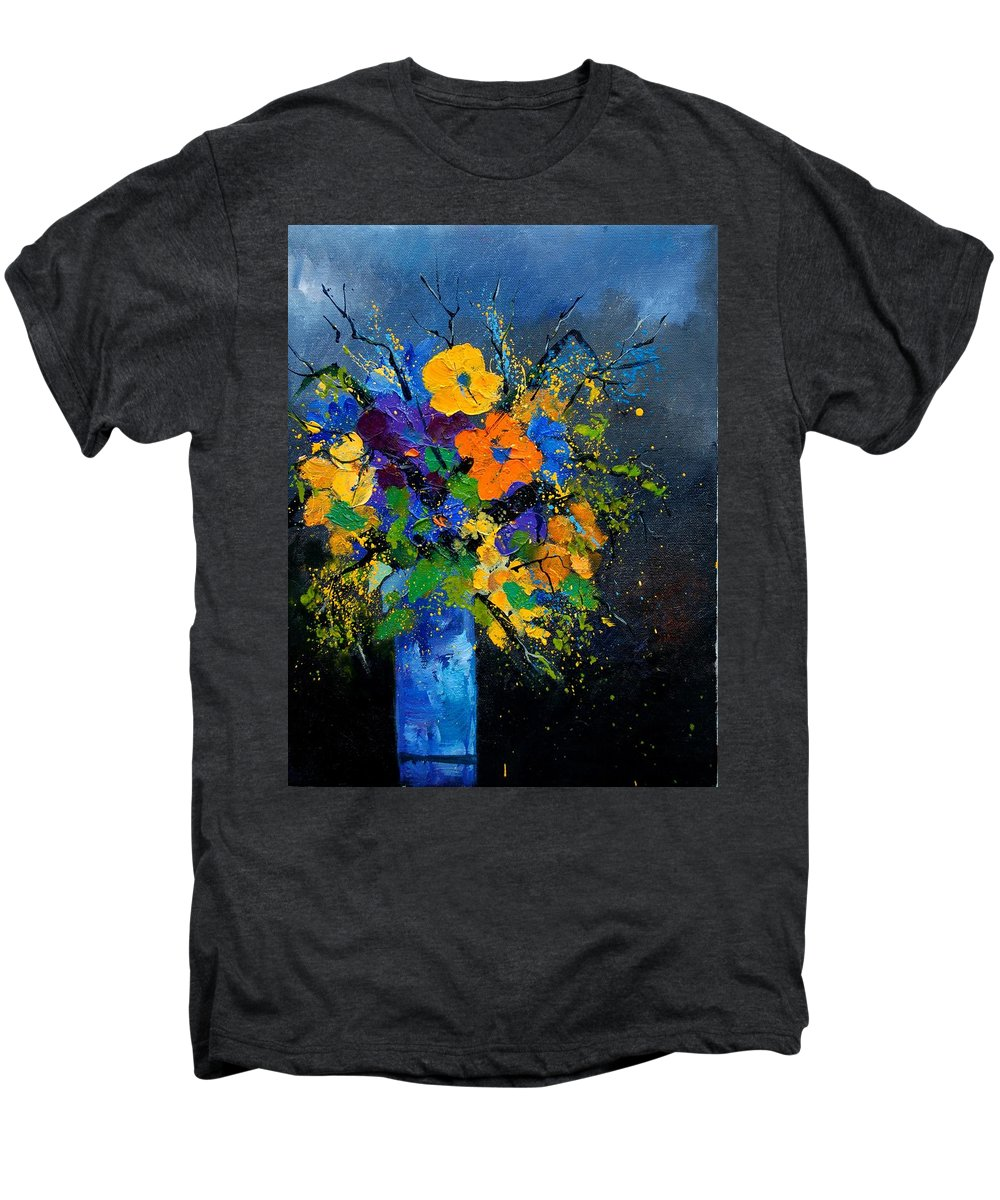 Poppies Men's Premium T-Shirt featuring the painting Bunch 1007 by Pol Ledent