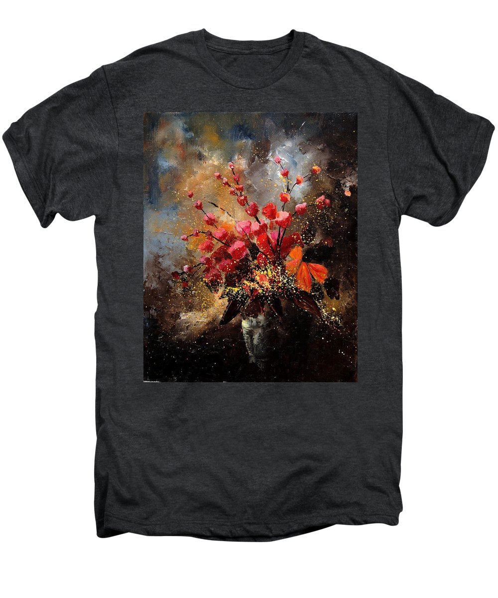 Poppies Men's Premium T-Shirt featuring the painting Bunch 1207 by Pol Ledent