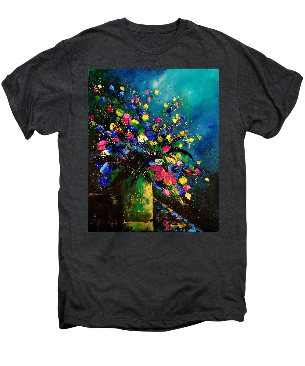 Poppies Men's Premium T-Shirt featuring the painting Bunch 45 by Pol Ledent