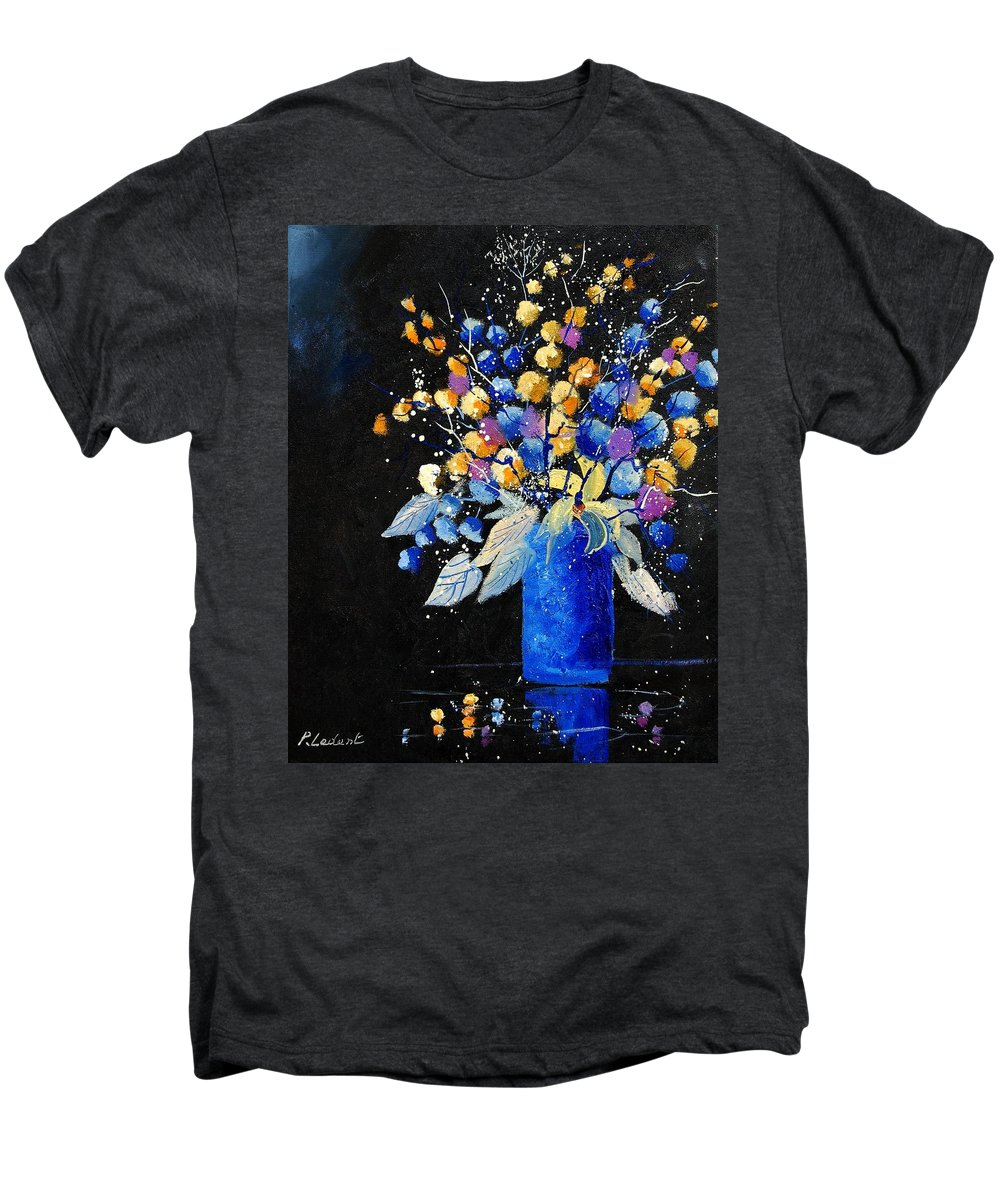 Flowers Men's Premium T-Shirt featuring the painting Bunch 451008 by Pol Ledent