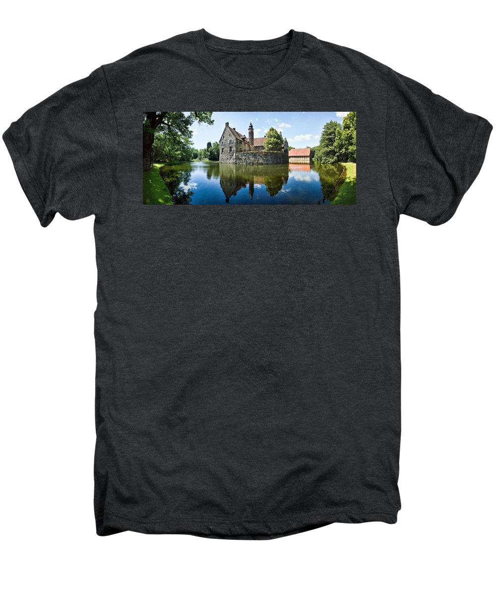 Burg Vischering Men's Premium T-Shirt featuring the photograph Burg Vischering by Dave Bowman