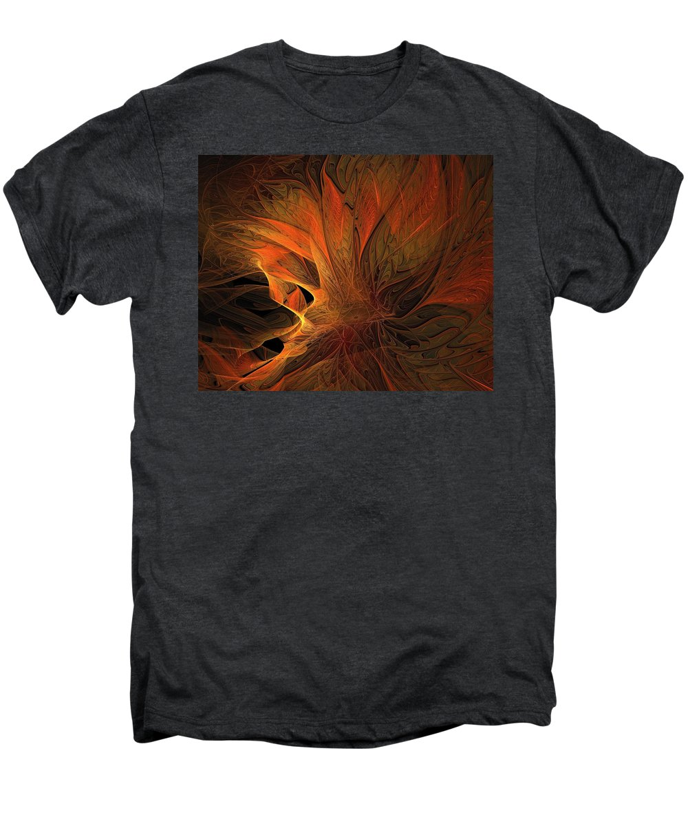 Digital Art Men's Premium T-Shirt featuring the digital art Burn by Amanda Moore