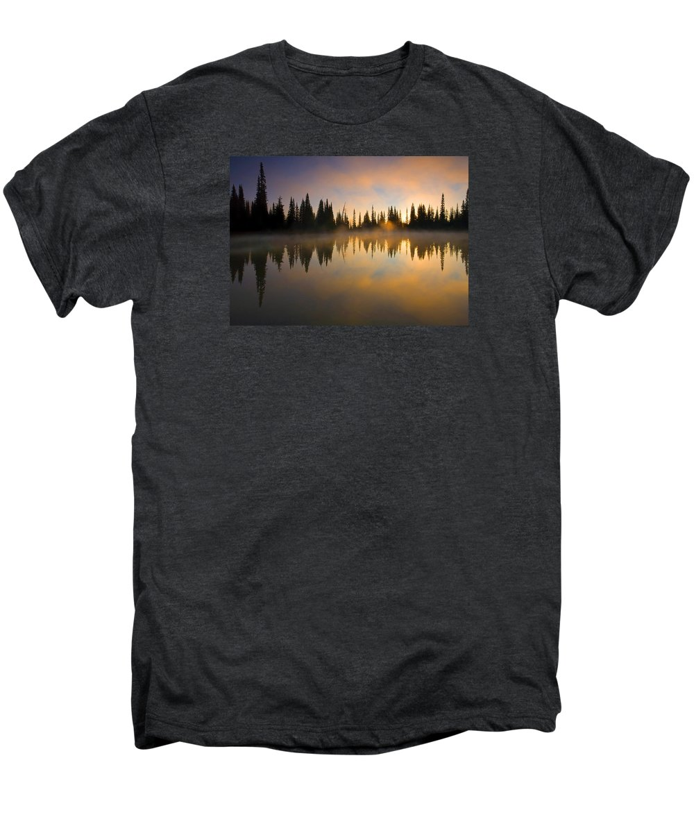 Lake Men's Premium T-Shirt featuring the photograph Burning Dawn by Mike Dawson