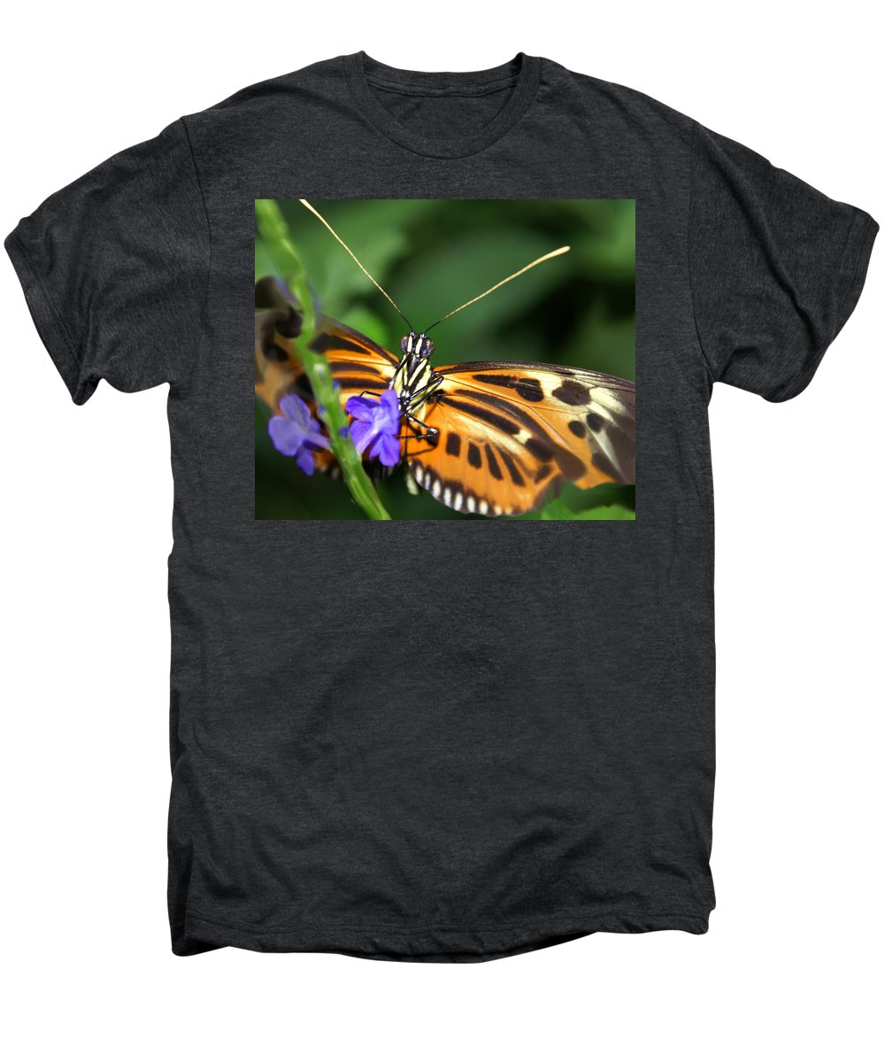 Butterfly Men's Premium T-Shirt featuring the photograph Butterfly 2 Eucides Isabella by Heather Coen