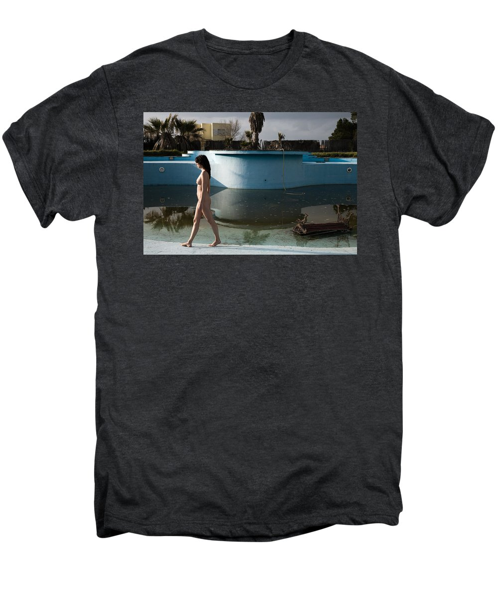 Nudes Men's Premium T-Shirt featuring the photograph By The Old Pool by Olivier De Rycke