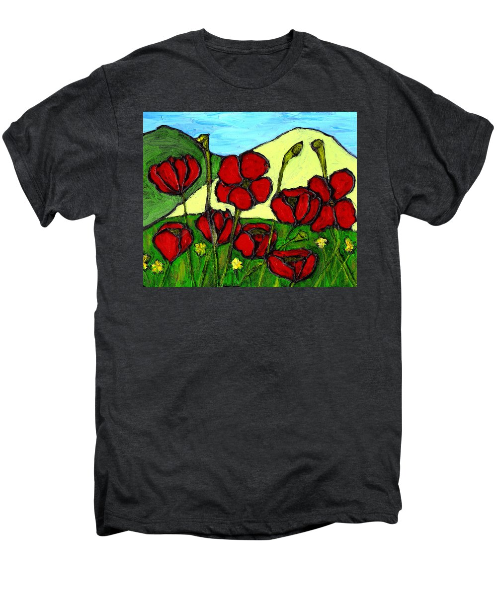 Flowers Men's Premium T-Shirt featuring the photograph By The Side Of The Road by Wayne Potrafka