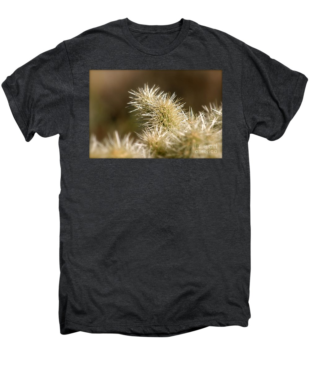 Cactus Men's Premium T-Shirt featuring the photograph Cacti by Nadine Rippelmeyer