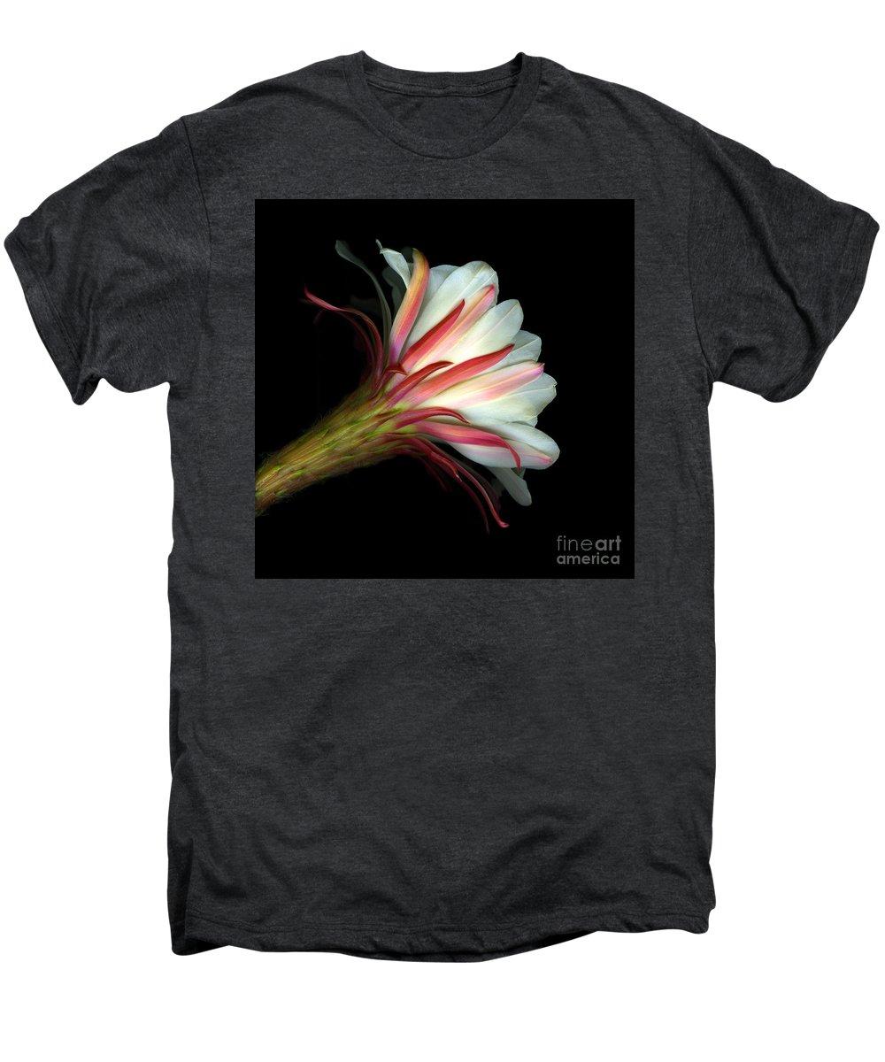 Scanart Men's Premium T-Shirt featuring the photograph Cactus Flower by Christian Slanec