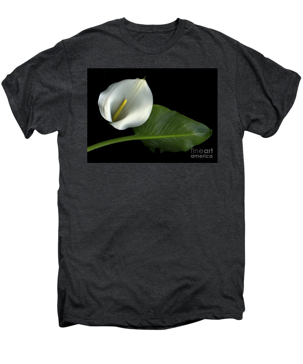 Scanography Men's Premium T-Shirt featuring the photograph Calla Lily by Christian Slanec