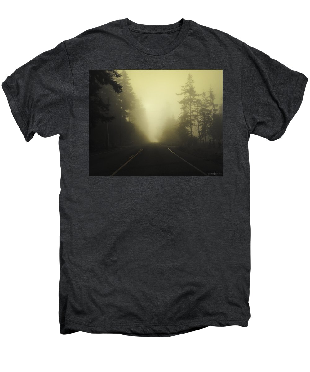 Fog Men's Premium T-Shirt featuring the photograph Camano Island Fog by Tim Nyberg