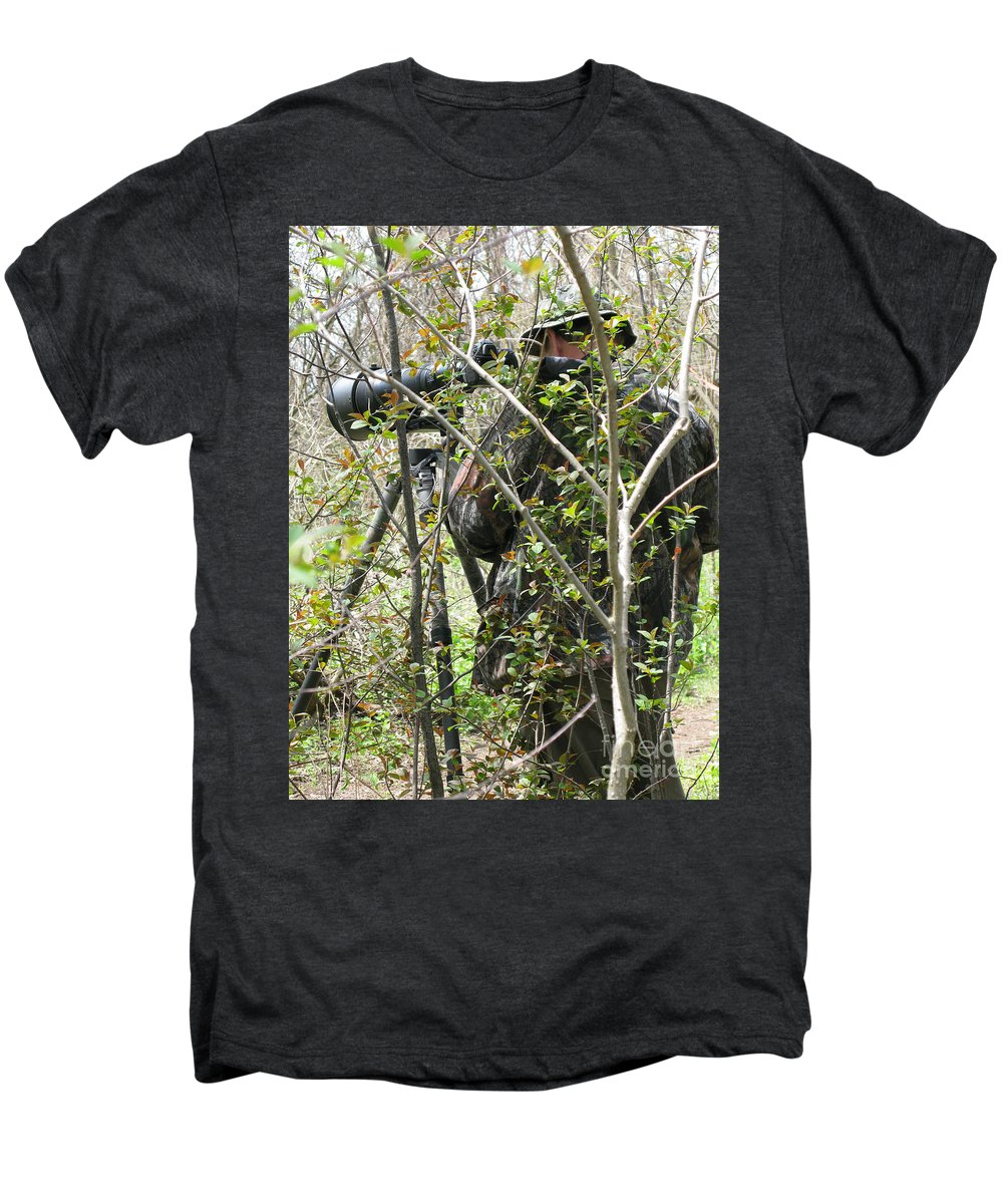 Photographer Men's Premium T-Shirt featuring the photograph Camouflage by Ann Horn