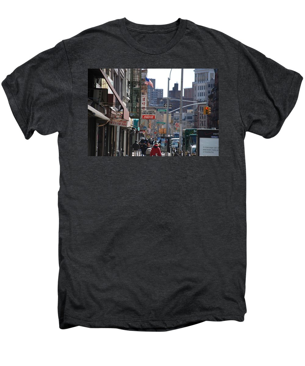 Architecture Men's Premium T-Shirt featuring the photograph Canal And Eldridge by Rob Hans