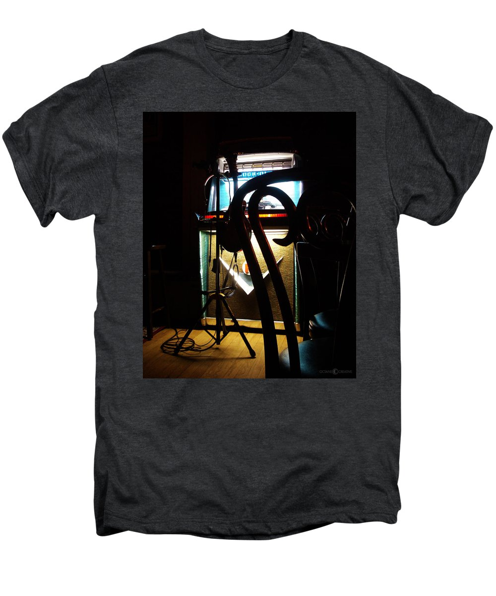 Music Men's Premium T-Shirt featuring the photograph Canned Music by Tim Nyberg