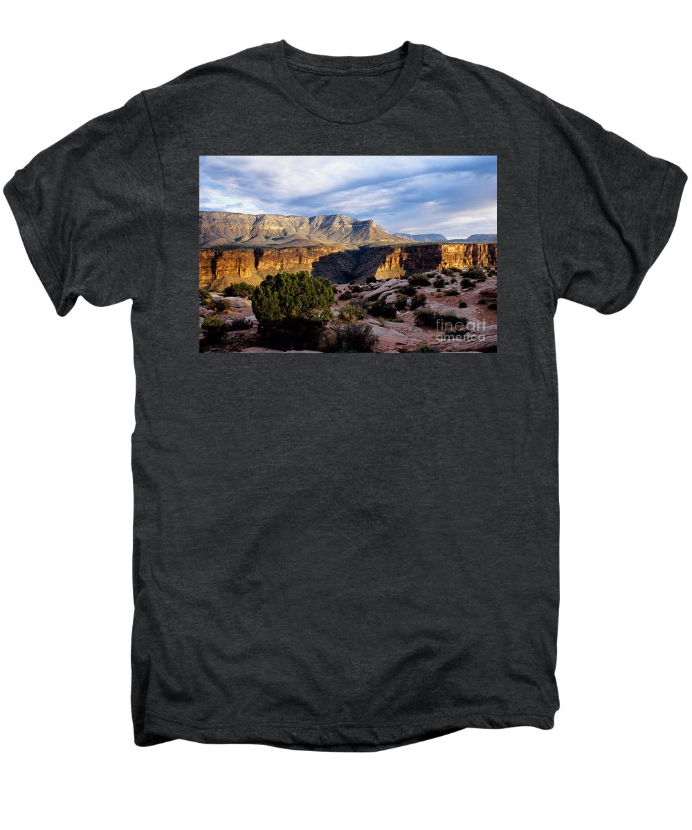 Toroweap Men's Premium T-Shirt featuring the photograph Canyon Walls At Toroweap by Kathy McClure