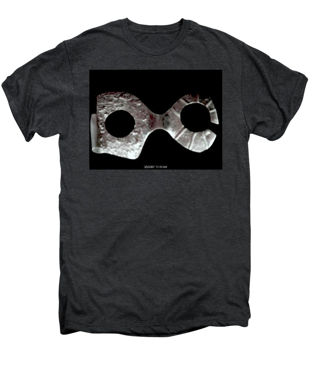 Carnival Type Face Mask For Wearing In .999 Fine Silver Men's Premium T-Shirt featuring the photograph Carnival 002 by Robert aka Bobby Ray Howle