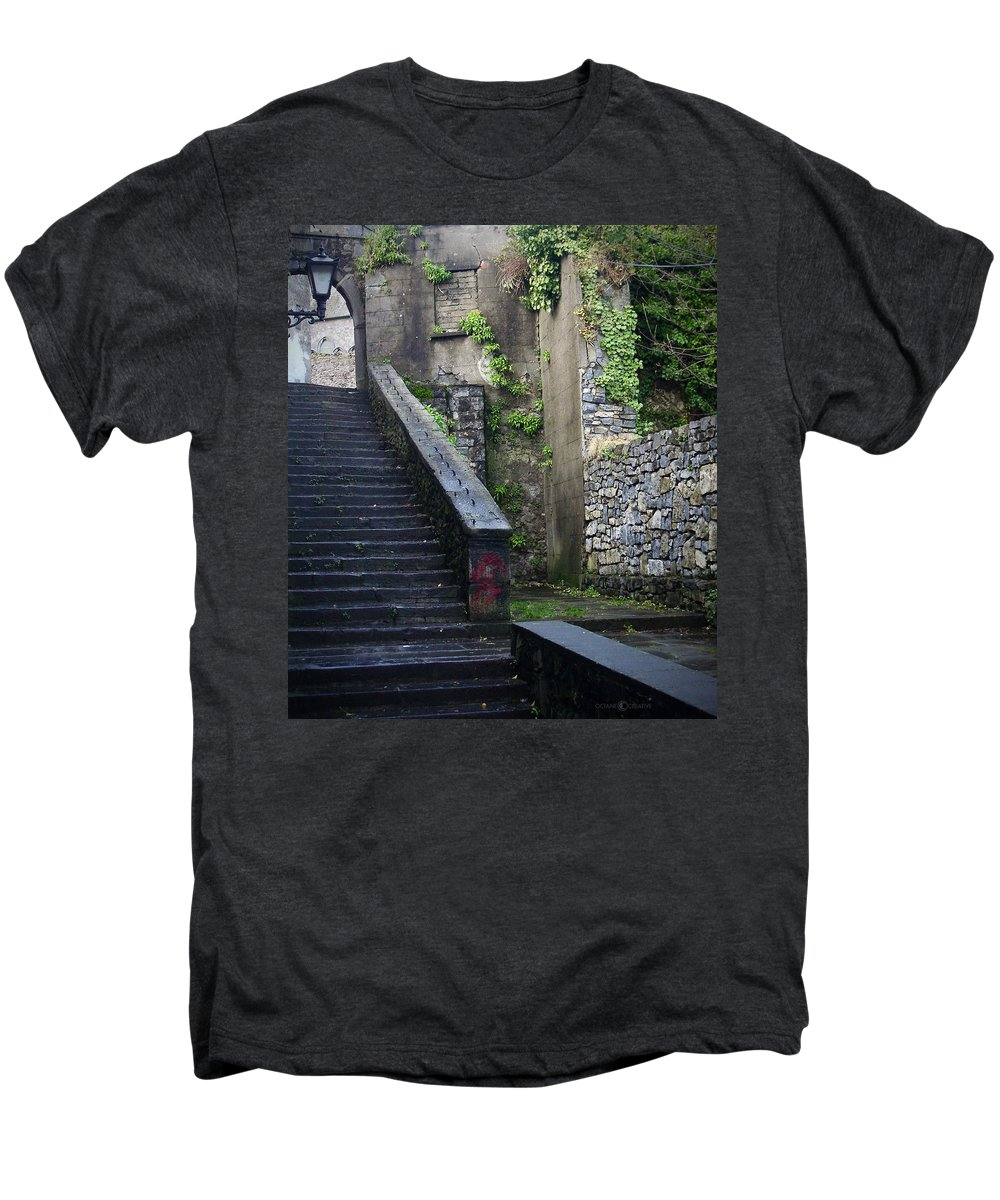 Stairs Men's Premium T-Shirt featuring the photograph Cathedral Stairs by Tim Nyberg