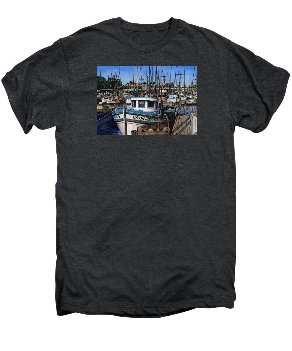 Transportation Men's Premium T-Shirt featuring the painting Catherina G by James Robertson
