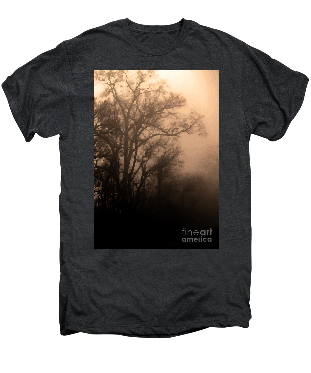 Soft Men's Premium T-Shirt featuring the photograph Caught Between Light And Dark by Amanda Barcon