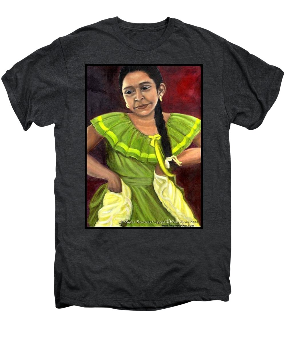 Men's Premium T-Shirt featuring the painting Cecelia by Toni Berry
