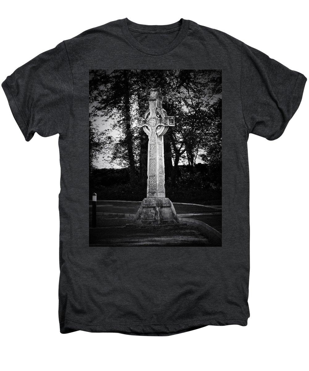 Irish Men's Premium T-Shirt featuring the photograph Celtic Cross In Killarney Ireland by Teresa Mucha