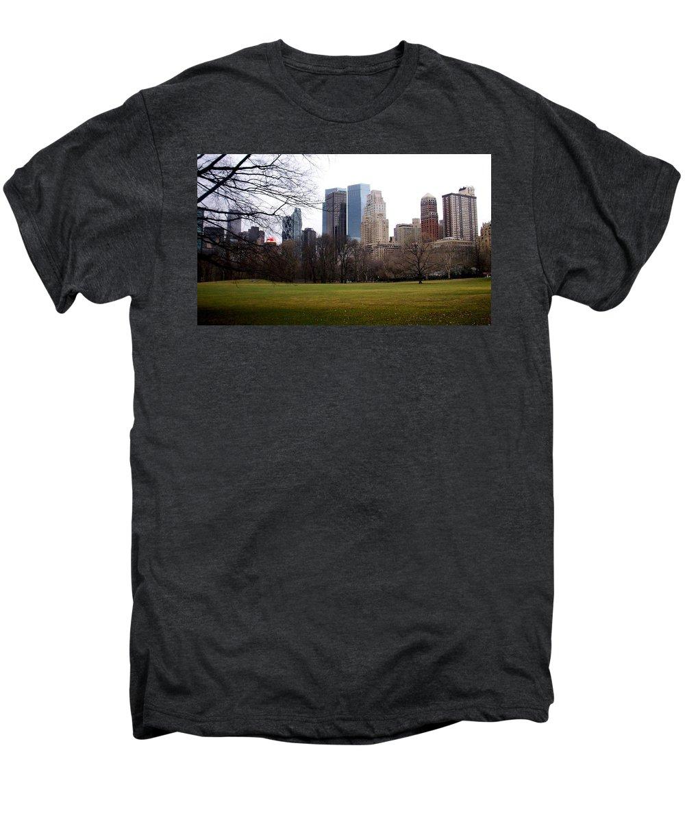 Central Park Men's Premium T-Shirt featuring the photograph Central Park by Anita Burgermeister