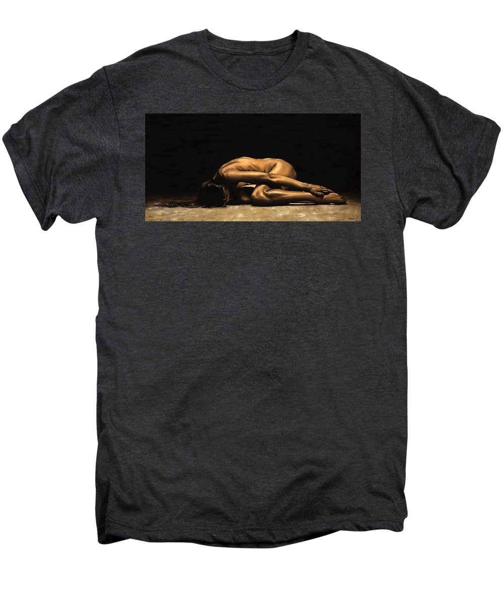 Nude Men's Premium T-Shirt featuring the painting Chastity by Richard Young