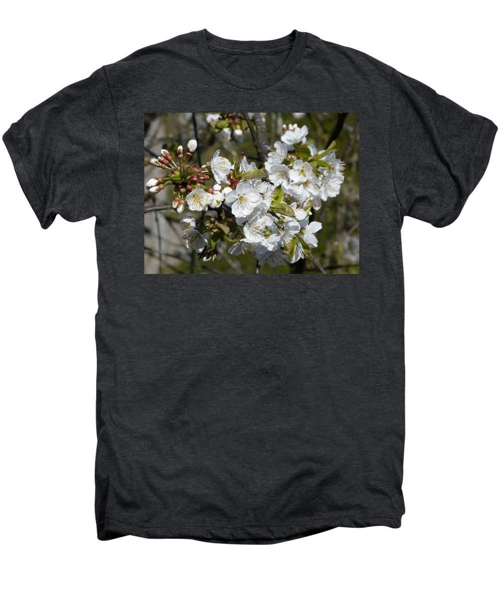 Cherry Men's Premium T-Shirt featuring the photograph Cherry Blossom by Valerie Ornstein