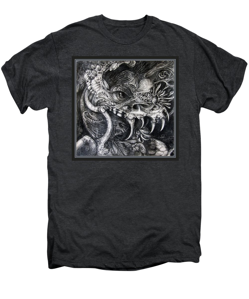 Men's Premium T-Shirt featuring the drawing Cherubim Of Beasties by Otto Rapp