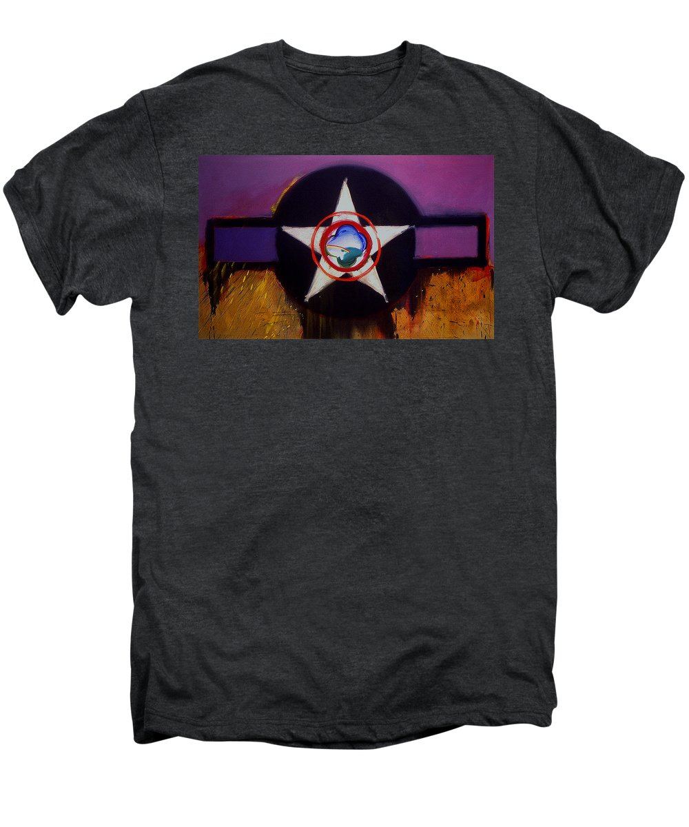 Air Force Insignia Men's Premium T-Shirt featuring the painting Cheyenne Autumn by Charles Stuart