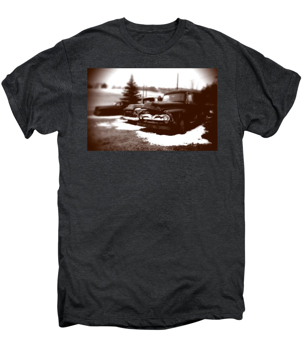 Old Cars Men's Premium T-Shirt featuring the photograph Chocolate Ghosts by Jean Macaluso