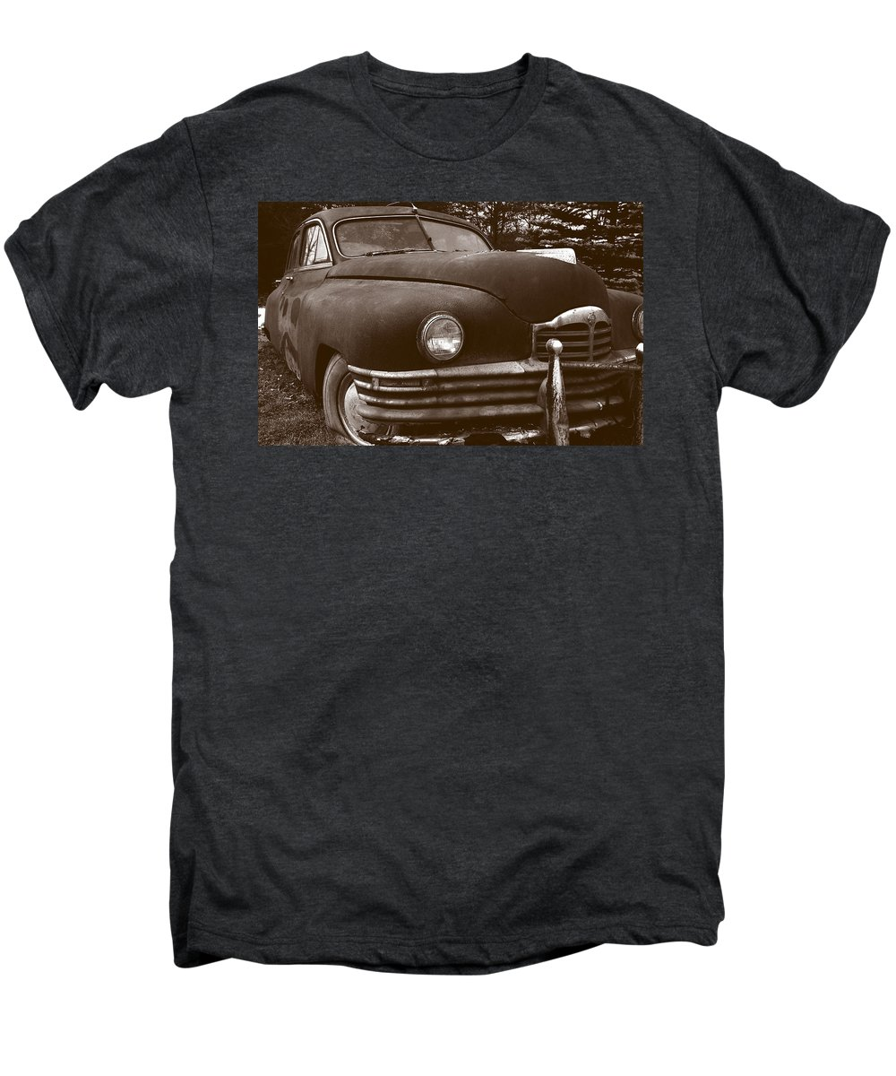 Old Car Men's Premium T-Shirt featuring the photograph Chocolate Moose by Jean Macaluso