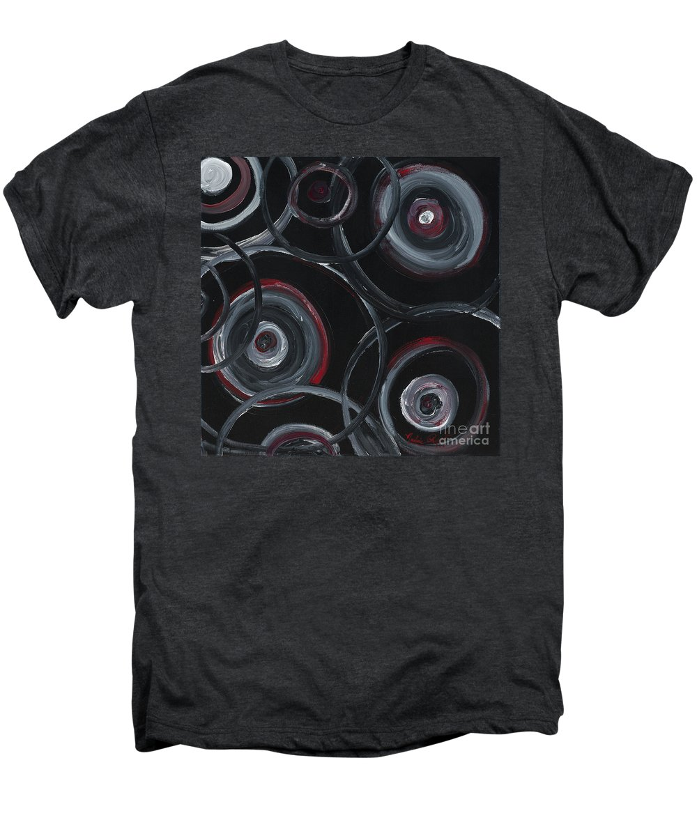 Circles Men's Premium T-Shirt featuring the painting Choices In Black by Nadine Rippelmeyer