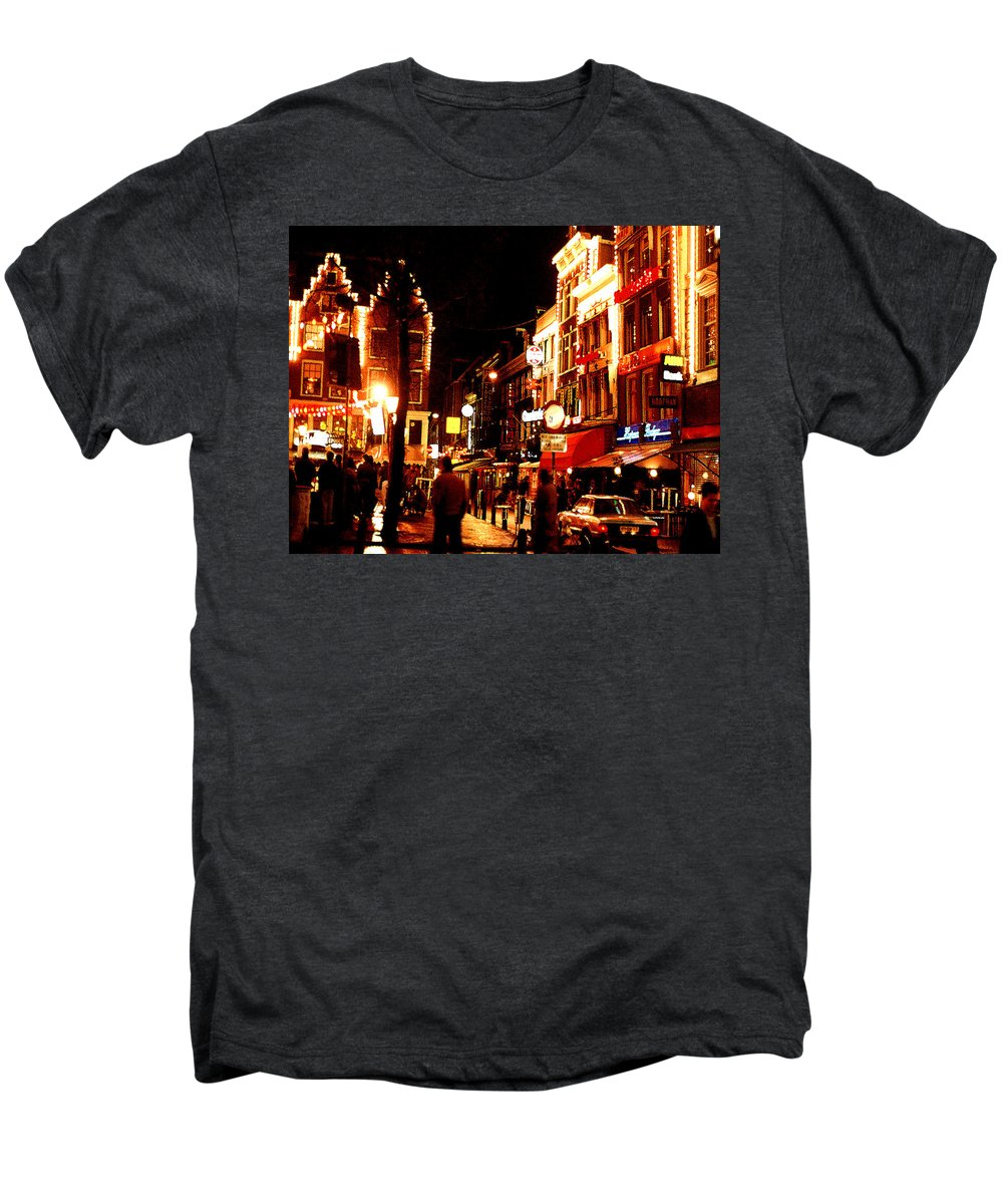 Night Men's Premium T-Shirt featuring the photograph Christmas In Amsterdam by Nancy Mueller