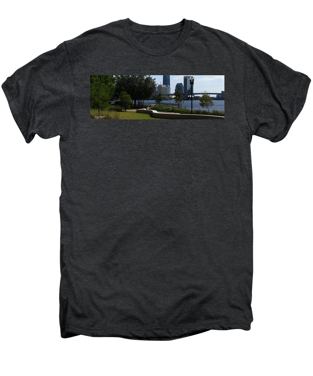 Art For The Wall...patzer Photography Men's Premium T-Shirt featuring the photograph City Way by Greg Patzer