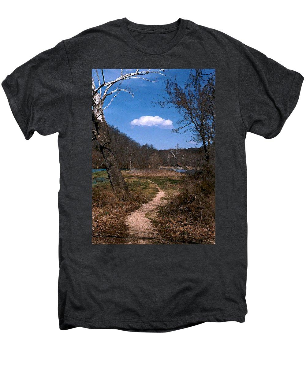 Landscape Men's Premium T-Shirt featuring the photograph Cloud Destination by Steve Karol
