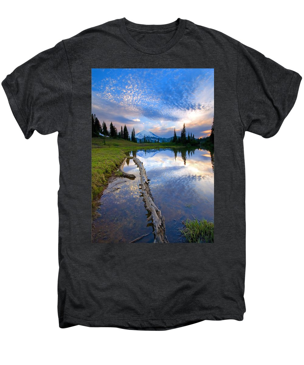 Landscape Men's Premium T-Shirt featuring the photograph Cloud Explosion by Mike Dawson