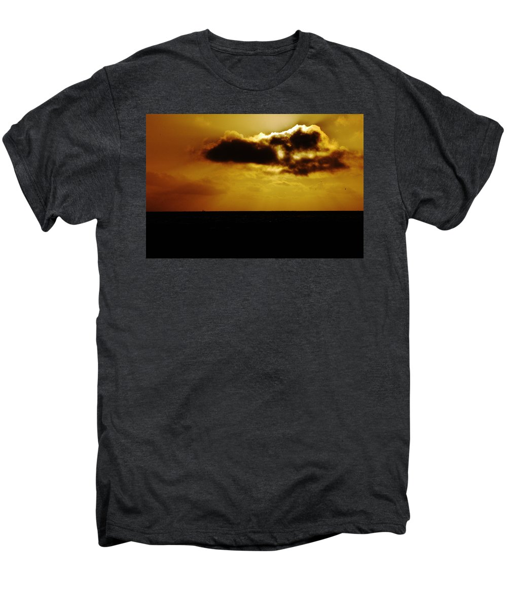 Clay Men's Premium T-Shirt featuring the photograph Clouds Over The Ocean by Clayton Bruster