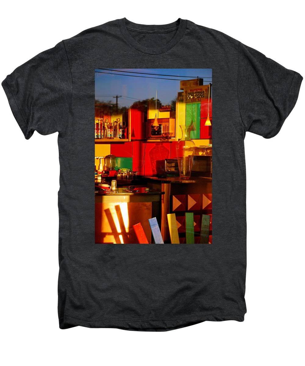 Skip Hunt Men's Premium T-Shirt featuring the photograph Coffee Shop by Skip Hunt
