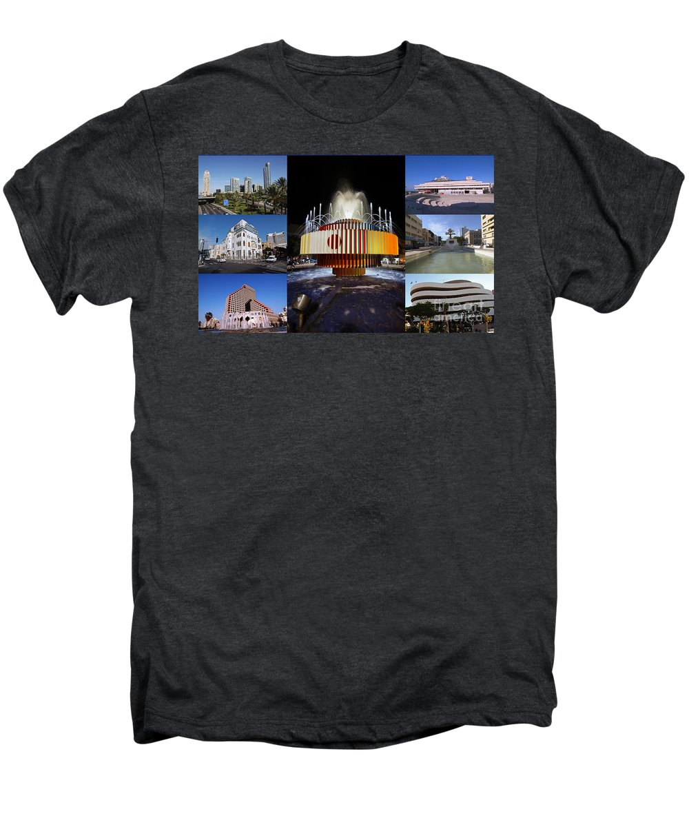 Collage Men's Premium T-Shirt featuring the photograph Collage Of Tel Aviv Israel by Ilan Rosen