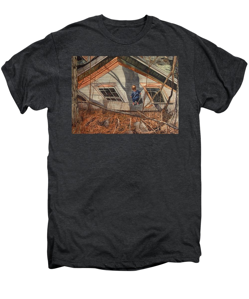 Children Men's Premium T-Shirt featuring the painting Collapsed by Valerie Patterson