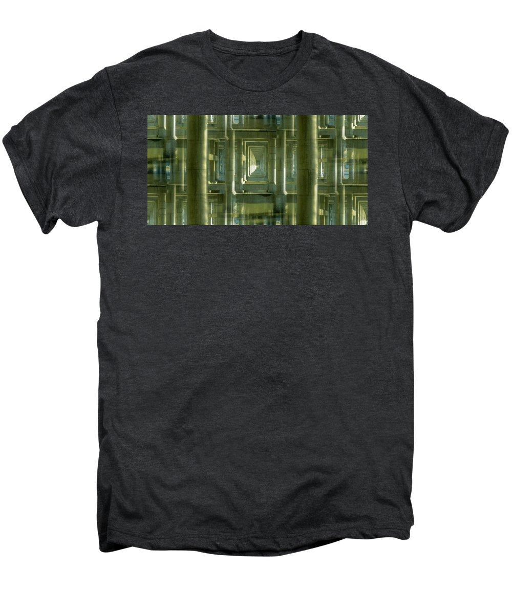 Seattle Men's Premium T-Shirt featuring the photograph Colonnade Park Seattle by Tim Allen