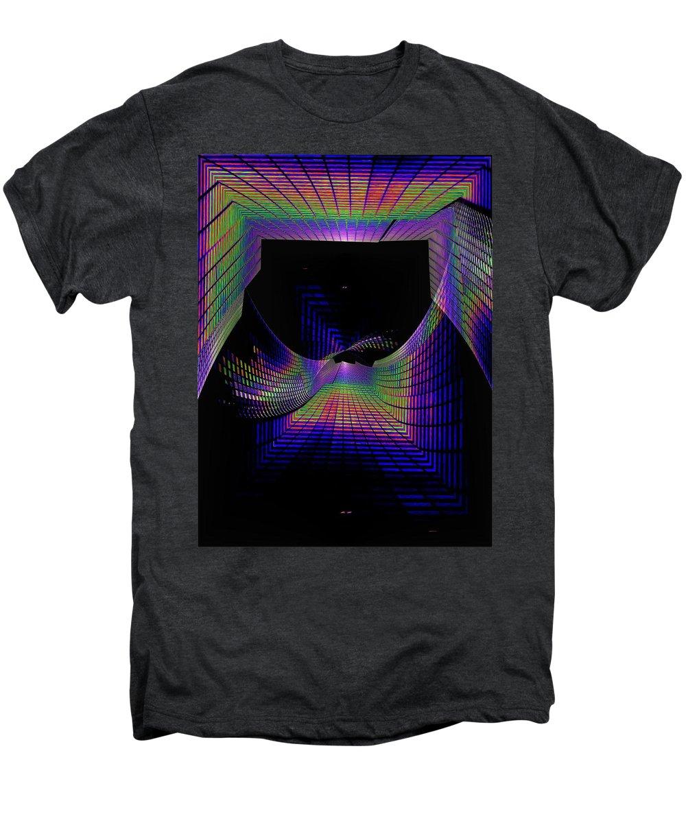Seattle Men's Premium T-Shirt featuring the digital art Columbia Tower Vortex by Tim Allen