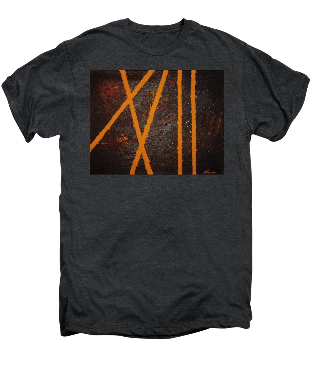 Original Men's Premium T-Shirt featuring the painting Coming Together by Todd Hoover