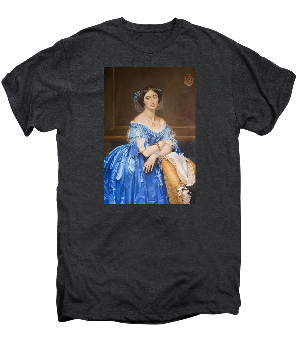 Ingres Men's Premium T-Shirt featuring the painting Copy After Ingres by Rob De Vries