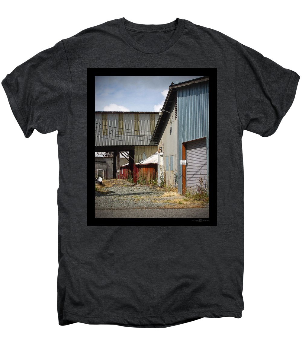 Corrugated Men's Premium T-Shirt featuring the photograph Corrugated by Tim Nyberg