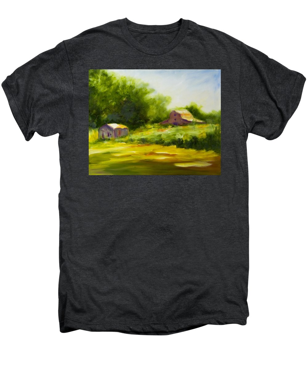 Landscape In Green Men's Premium T-Shirt featuring the painting Courage by Shannon Grissom