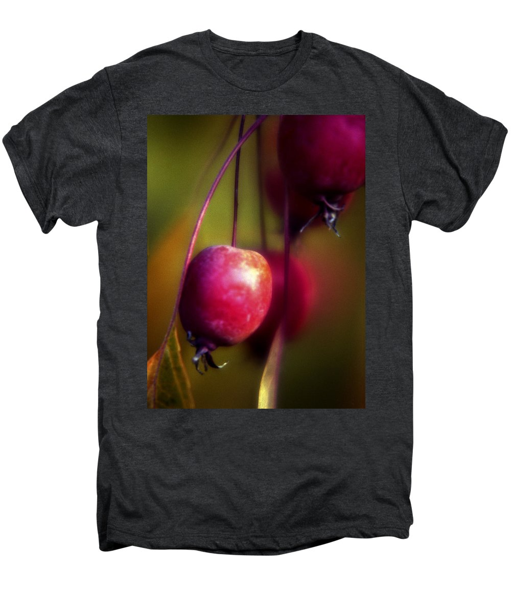 Macro Men's Premium T-Shirt featuring the photograph Crabapple by Lee Santa
