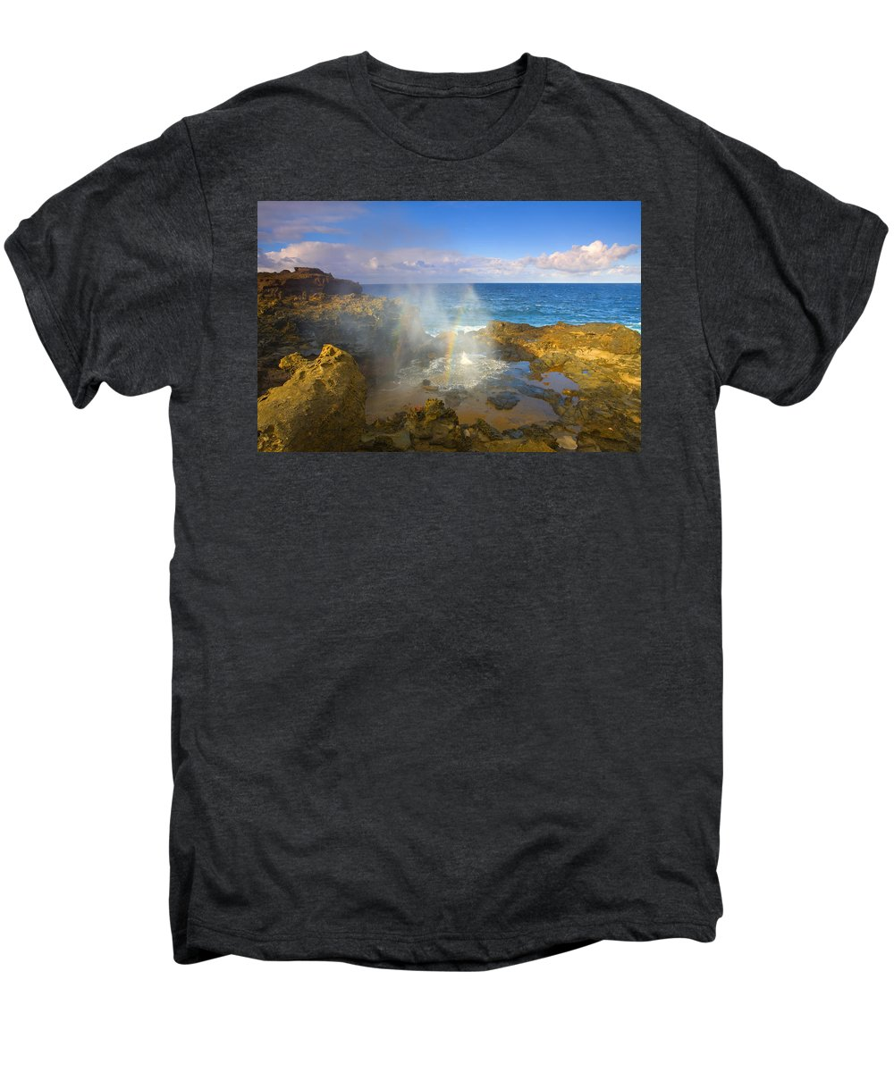 Blowhole Men's Premium T-Shirt featuring the photograph Creating Miracles by Mike Dawson